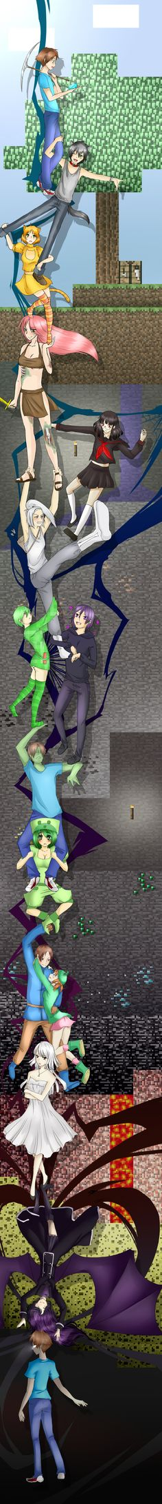 Omg i love this!!!! Minecraft as people thing with enderlox thing at the end of it!!!!