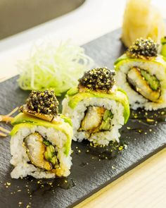 Have you tried to re-create our millionaire sushi roll? It's filled with unagi cucumber, topped with avocado, truffle foiegras, caviar and gold flakes Go to www.youtube.com/makesushi1?utm_content=buffer8a84f&utm_medium=social&utm_source=pinterest.com&utm_campaign=buffer for more sushi & go to www.makesushi.com/?utm_content=bufferdb7a7&utm_medium=social&utm_source=pinterest.com&utm_campaign=buffer for more recipes