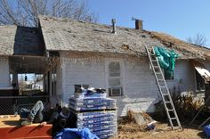 Mr. Jim's roof was devastated during the severe weather that hit Oklahoma last spring.