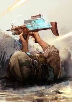 """""""Olografic Gun Interface - Under Cover Gun . Concept Art"""""""