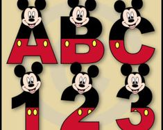 Baby Mickey & Minnie Alphabet Letters and Numbers Clip Art Collection Baby Mickey, Mickey E Minie, Mickey Birthday, Mickey Party, Mickey Halloween, Disney Mickey, Mickey Mouse Classroom, Disney Classroom, Cursive Alphabet