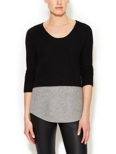 make a colorblock T with these proportions. Honeycomb Colorblock Pullover