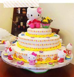 Hello Kitty Birthday cake in Raleigh NC Sweet Cherry Bakery Kids