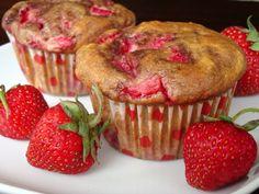 Strawberry Yogurt Muffins | alidaskitchen.com #recipes #muffins #breakfast #healthy #strawberries