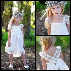 The girl flower girl dress which match the flowers-boho cute flower girl dresses for wedding 2016 cap sleeve vinatge lace a line criss cross back tea-length kids communion gowns sl12 is offered in bestoffers and on DHgate.com girls flower girls dresses along with little girl flower girl dress are on sale, too.