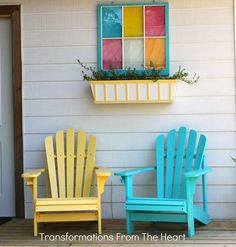 revamping a backyard deck the diy style to add color and charm for a cozy and, decks patios porches, furniture furniture revivals, gardening. Deck Furniture, Painted Furniture, Furniture Design, Deck Makeover, Backyard Projects, Backyard Ideas, Pool Ideas, Backyard Chairs, Diy Projects