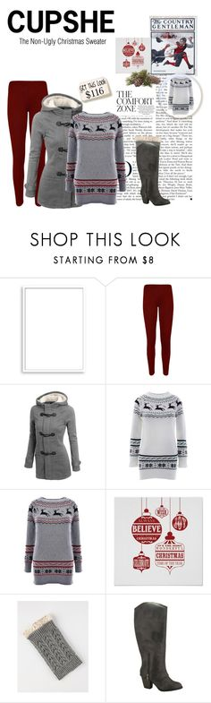 """""""Cupshe Winter/Christmas Sweaters"""" by charlie-sparrow ❤ liked on Polyvore featuring Bomedo, WearAll and rustic"""