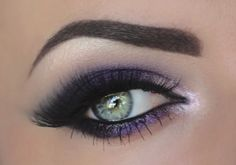Sultry Purple Smokey Eye Tutorial: http://karasglamourblog.blogspot.com/2014/02/sultry-purple-smokey-eye-tutorial.html