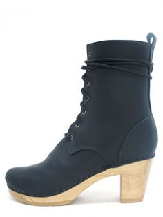 """no. 6. 8"""" lace up leather boot, love"""