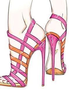 Resultado de imagen para flat sandals sketches