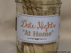 "Celebrate Every Day With Me: 30 Ideas for Date Nights ""At Home"""