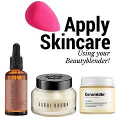 Yes, You can use your Beautyblender to apply skincare!