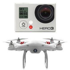 No meu tempo não tinha um desses   GoPro   HERO3: Black Edition Camera & Phantom Quadcopter with GoPro Mount Kit