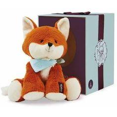 """Der Les Amis Fuchs lädt zum Kuscheln ein. Er hat eine handliche Größe von 19 cm, kommt in einer tollen Geschenkbox und kann bei 30 Grad in der Maschine gewaschen werden. Dieser Fuchs ist """"allerliebst"""" und eine tolle Geschenkidee. Masse ca:  10.3x10.5x10.3,  Gewicht:  0.218kg, waschbar bei 30°, ab Geburt geeignet Baby Center, Unisex, Teddy Bear, Animals, Grad, Products, Games, Blue Nails, Colors"""