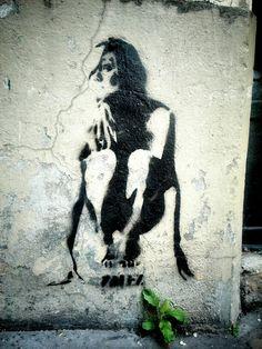 Street art - paris 4, rue pierre au lard
