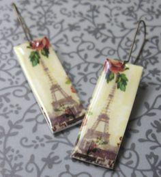 Springtime in Paris Earrings by Missbluebirdandoscar on Etsy