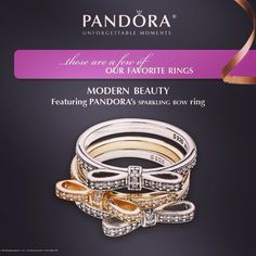 Year of the Ring. Modern Beauty. Featuring PANDORA Sparkling Bow Ring  #Christmas #Caledon #Orangeville