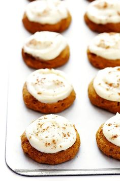 ***Pumpkin Cookies with Cream Cheese Frosting ~ my favourite pumpkin cookie recipe! These soft and delicious pumpkin cookies are iced with a heavenly cream cheese frosting, and are the perfect treat for fall dessert baking. So delicious! Soft Pumpkin Cookie Recipe, Iced Pumpkin Cookies, Cream Cheese Cookie Recipe, Cream Cheese Recipes, Pumpkin Dessert, Pumpkin Recipes, Fall Recipes, Cookie Recipes, Dessert Recipes