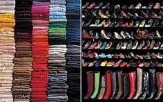 Funny, when I'm on top of my game, I always organize my clothes by color and type.