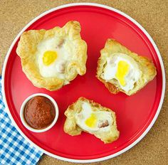 Bacon and eggs baked inside a muffin (posted by Epicurious)