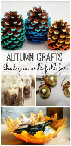 10 simple Autumn crafts that you will fall for. Try these DIY fall activities for your home decor. #fall #autumn #crafts