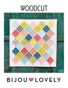 Woodcut Quilt Pattern - PDF