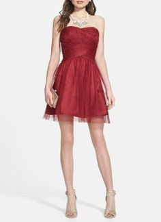 A sweet Valentine's Day dress with tulle and glitter.