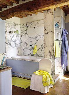 Rustic Bathroom by Dede Pratesi in Tuscany, Italy