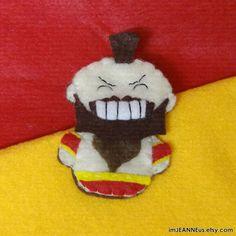 teeny tiny zangief finger puppet needs an opponent!
