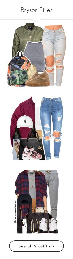 """Bryson Tiller"" by christianna-futrell ❤ liked on Polyvore featuring D. Brand, Michael Kors, Puma, Topshop, ASOS, Rolex, MICHAEL Michael Kors, adidas Originals, October's Very Own and NanaOutfits"