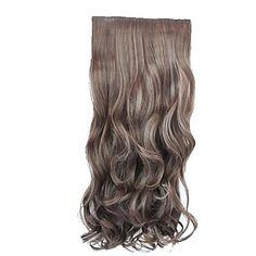 Sintéticos de alta qualidade de 20 polegadas longo ondulado peruca Stlylish Hair Extension 3 cores disponíveis de 1222446 2017 por R$15,51