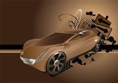 Mazda prototype Adobe Illustrator 2008