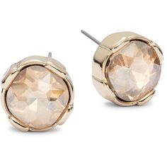 A.B.S. By Allen Schwartz Faceted Stud Earrings ($35) ❤ liked on Polyvore featuring jewelry, earrings, gold, abs by allen schwartz, gold tone earrings, facet jewelry, post earrings and abs by allen schwartz jewelry
