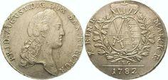 Sachsen-Albertinische Linie Friedrich August III. 1763-1806. Taler 1782 Vorzüglich +