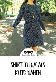 """Tutorial: Raglan-Shirt """"Elina"""" als Kleid nähen Raglan Shirts, Sewing Clothes, Sewing Projects, Dresses With Sleeves, Long Sleeve, Jumpsuits, Crafty, Fashion, Sew Dress"""