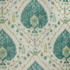 LOVE these green, blue and aqua colors! Sea Glass Blues Fabric.