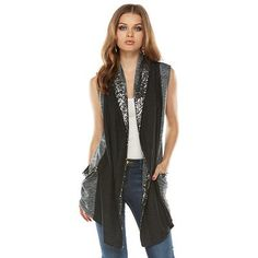 Juicy Couture Space-Dyed Sequin Flyaway Vest - Women's