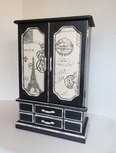 Ladies Jewelry Box Upcycled Jewelry Armoire by TreasuresbyMarylou, $120.00