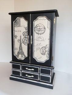 Ladies Jewelry Box Upcycled Jewelry Armoire by TreasuresbyMarylou, $120.00