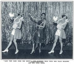 Florence Mills, Tillie Meadows, and Lucia Moses Blackbirds of 1926 Jazz Time Came From the South number