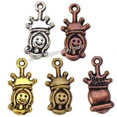 Zinc Alloy Human Charms,Girl,Plated,Cadmium And Lead Free,Various Color For Choice,Approx 19.5*9.5*3mm,Hole:Approx 1mm,Sold By Bags,No 001722