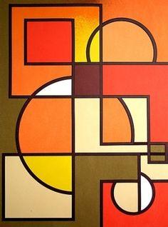 visual art Lithographie Radice - Untitled Acne: Natural Hot Pepper Face Wash May Cure Acne Article B Geometric Shapes Art, Abstract Geometric Art, Kandinsky Art, Oil Pastel Art, Geometry Art, Shape Art, Modern Art Paintings, Art Lessons, Art Drawings