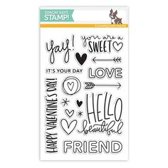 RESERVE Simon Says Clear Stamps HELLO BEAUTIFUL sss101603