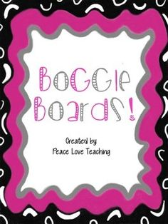 36 different boggle boards along with a boggle recording sheet!