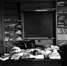 albert einstein's study, princeton, new jersey (photo by ralph morse)