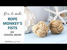 How to make a Monkey's Fist with rope || DIY Sailor Knot Decorative Balls - YouTube