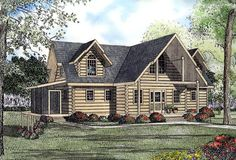 House Plan 61121 | Log    Plan with 2569 Sq. Ft., 3 Bedrooms, 4 Bathrooms