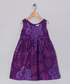 Take a look at this Purple Swirl Dress - Infant, Toddler & Girls by Global Mamas on #zulily today!