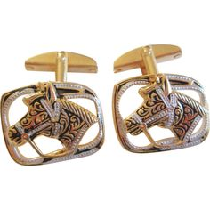Equestrian Cuff Links Vintage 1960s Horse Head Cowboy Rodeo Mens Jewelry  $20  http://www.rubylane.com/item/676693-JL252/Equestrian-Cuff-Links-Vintage-1960s-Horse