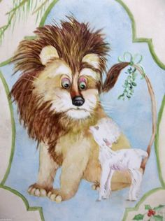 "Vintage Brazilian Art Tile Trivet MARCH In Like A LION Out Like A LAMB 8"" ERMA S"